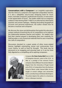 Conversations with a Composer (Back Cover)